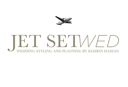 Jet SetWed logo with airplane