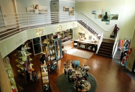 Aerial view of the Kay Casperson Sanibel Day Spa lobby