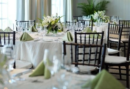 Kings Crown wedding reception interior.