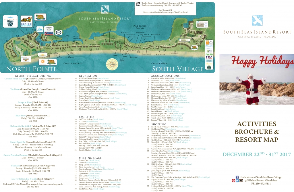South Seas Island Resort Map Holiday Activity Brochure!