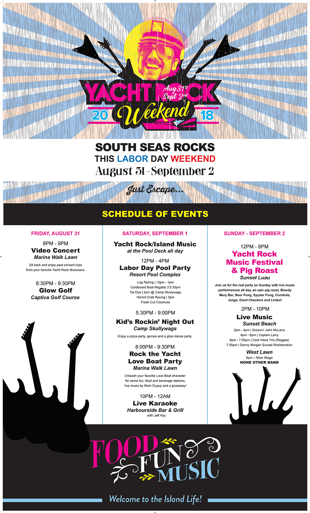 Yacht Rock Schedule of Events